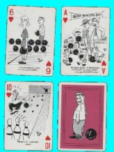 Collectible playing cards. Bowling, cartoons